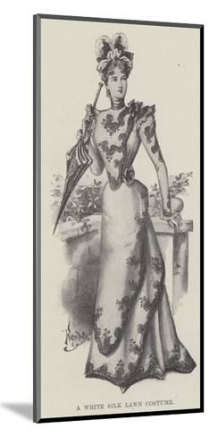 A White Silk Lawn Costume--Mounted Giclee Print