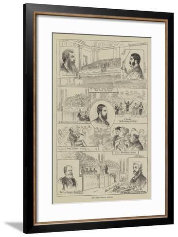 The Leeds Musical Festival--Framed Art Print