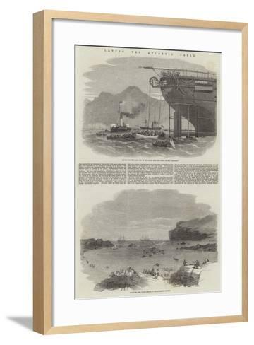 Laying the Atlantic Cable--Framed Art Print