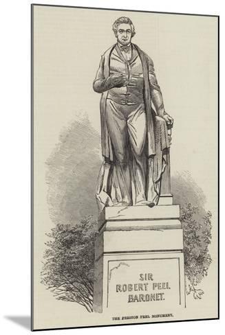 The Preston Peel Monument--Mounted Giclee Print