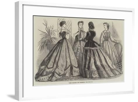 Paris Fashions for December--Framed Art Print