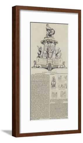 The Montefiore Testimonial--Framed Art Print