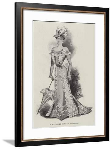 A Handsome Gown in Taffetas--Framed Art Print
