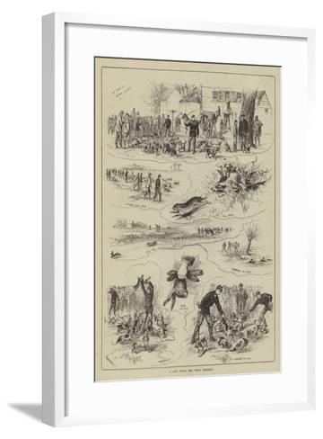 A Run with the Eton Beagles--Framed Art Print