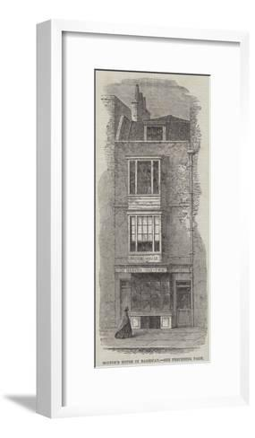 Milton's House in Barbican--Framed Art Print