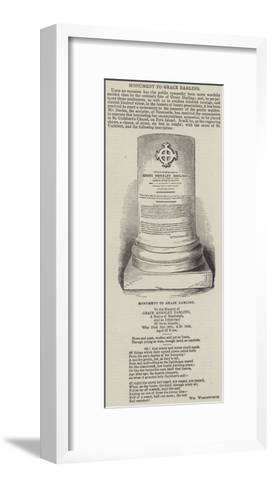 Monument to Grace Darling--Framed Art Print