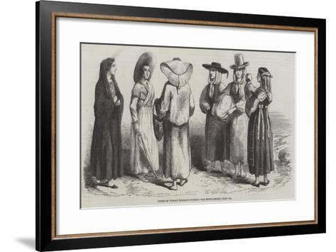 Types of Tuscan Peasant-Women--Framed Art Print