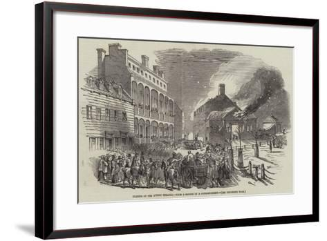 Burning of the Quebec Theatre--Framed Art Print