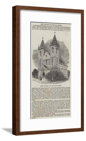 New Church, at Kensall Green--Framed Art Print