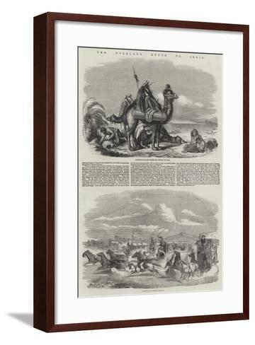 The Overland Route to India--Framed Art Print