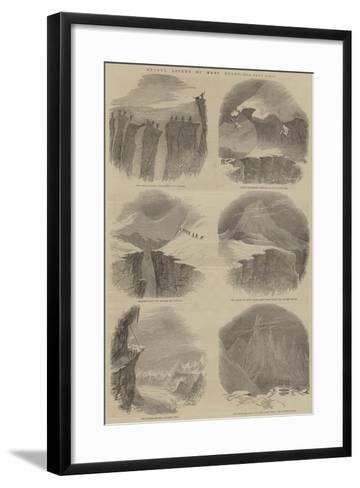 Recent Ascent of Mont Blanc--Framed Art Print
