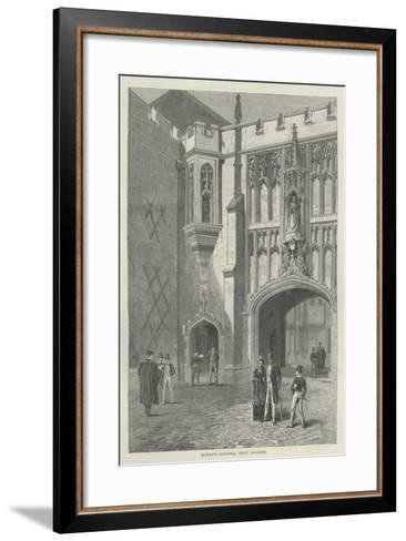 Queen's Schools, Eton College--Framed Art Print