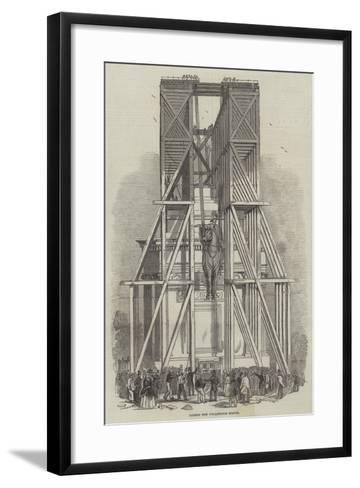 Raising the Wellington Statue--Framed Art Print