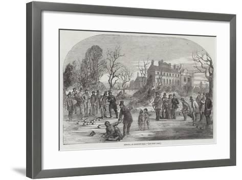 Curling, at Croxteth Hall--Framed Art Print