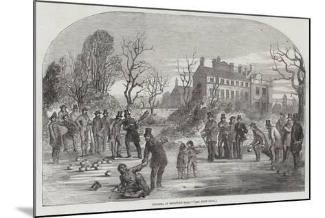 Curling, at Croxteth Hall--Mounted Giclee Print