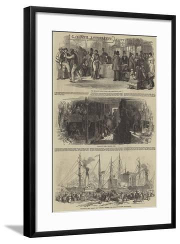 The Depopulation of Ireland--Framed Art Print
