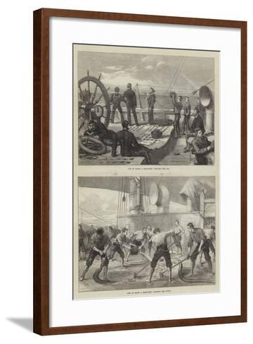 Life on Board a Troop-Ship--Framed Art Print