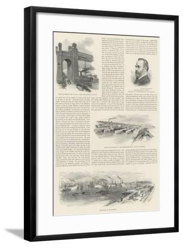 The Manchester Ship Canal--Framed Art Print