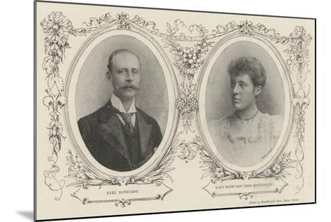 Bathurst Borthwick Marriage--Mounted Giclee Print