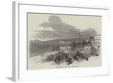 Naples, the Chiaja, or Quay--Framed Art Print