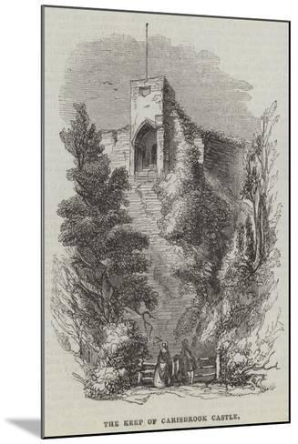 The Keep of Carisbrook Castle--Mounted Giclee Print