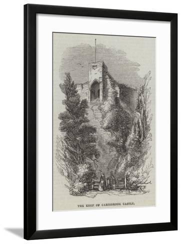 The Keep of Carisbrook Castle--Framed Art Print