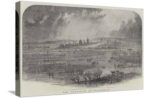 The Inundation at Oxford--Stretched Canvas Print