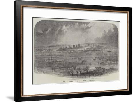 The Inundation at Oxford--Framed Art Print