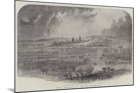 The Inundation at Oxford--Mounted Giclee Print
