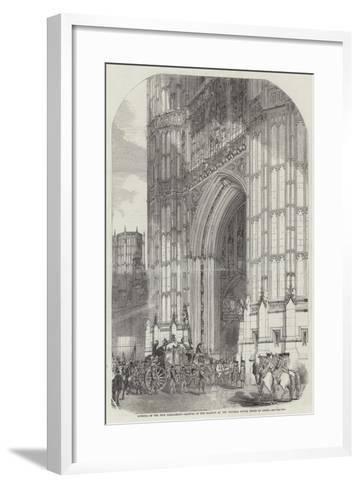 Opening of the New Parliament--Framed Art Print