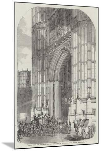Opening of the New Parliament--Mounted Giclee Print