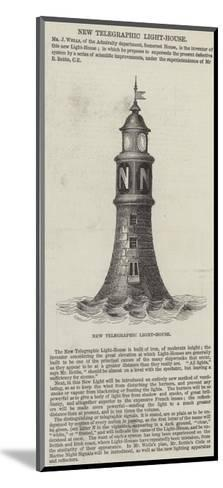 New Telegraphic Light-House--Mounted Giclee Print