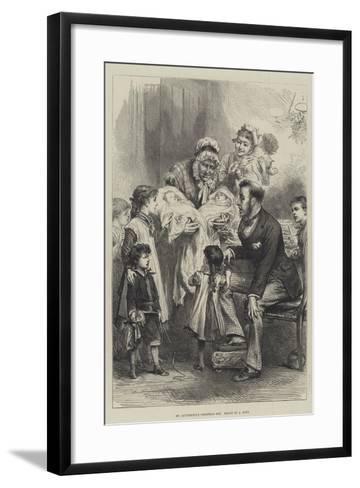 Mr Quiverfull's Christmas Box--Framed Art Print