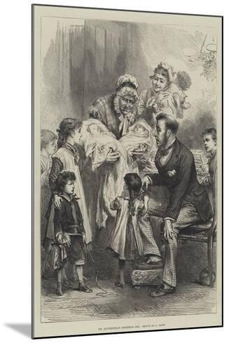 Mr Quiverfull's Christmas Box--Mounted Giclee Print