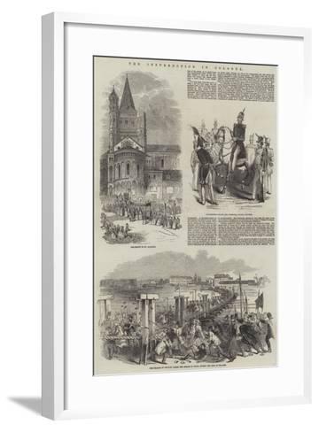 The Insurrection in Cologne--Framed Art Print