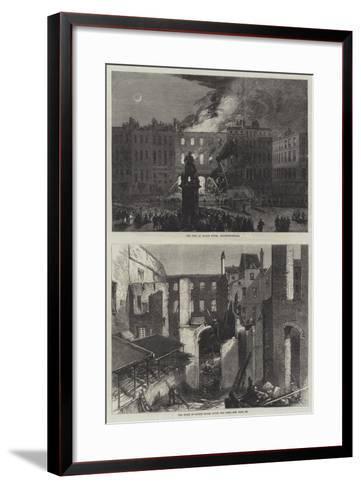 The Fire at Savile House--Framed Art Print
