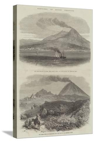 Sketches of Mount Vesuvius--Stretched Canvas Print