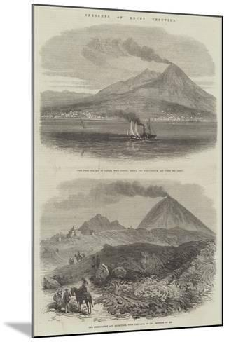 Sketches of Mount Vesuvius--Mounted Giclee Print