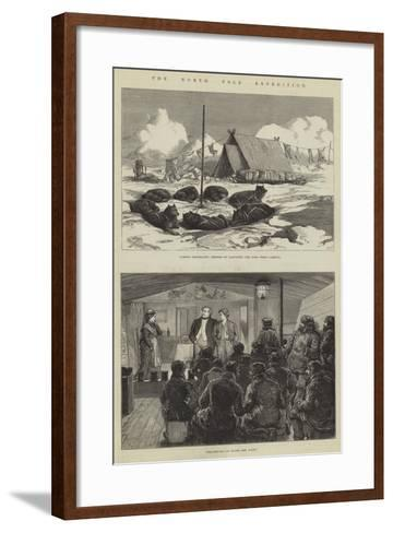 The North Pole Expedition--Framed Art Print