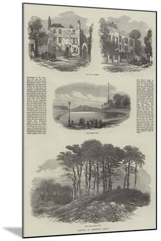 Sketches on Hampstead Heath--Mounted Giclee Print