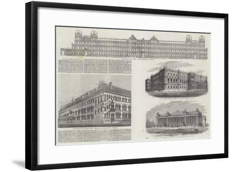 The New Government Offices--Framed Art Print