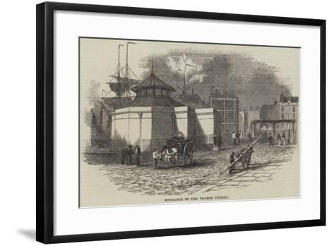 Entrance to the Thames Tunnel--Framed Art Print