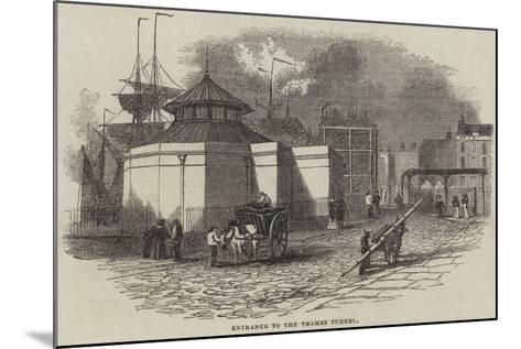 Entrance to the Thames Tunnel--Mounted Giclee Print