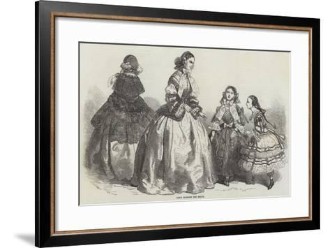Paris Fashions for March--Framed Art Print