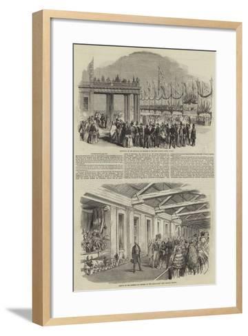 Royal Visit of Napoleon III--Framed Art Print
