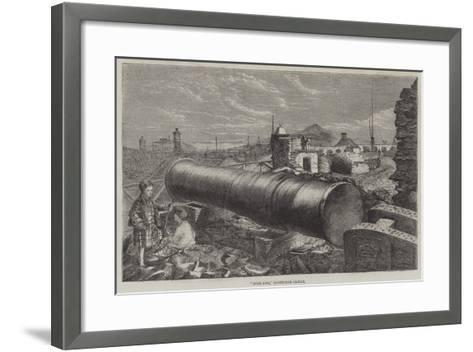 Mons Meg, Edinburgh Castle--Framed Art Print