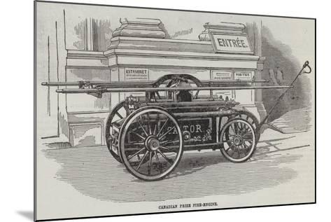 Canadian Prize Fire-Engine--Mounted Giclee Print