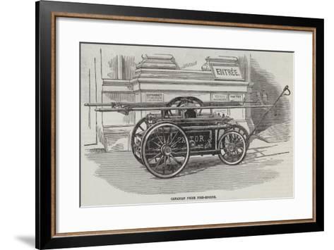 Canadian Prize Fire-Engine--Framed Art Print