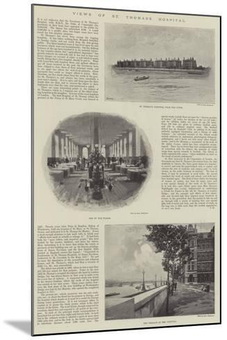 Views of St Thomas's Hospital--Mounted Giclee Print