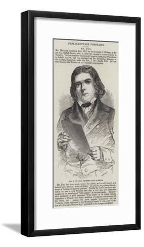 Mr J W Fox, Member for Oldham--Framed Art Print